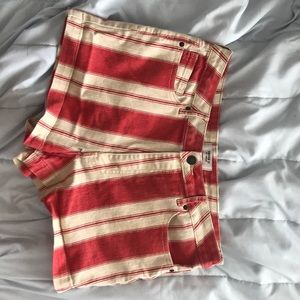 Funky red and yellow shorts